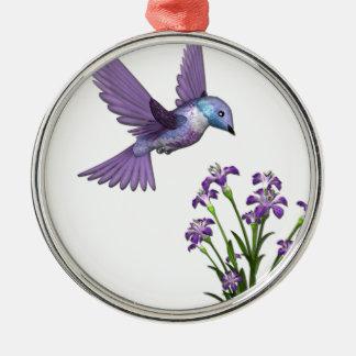 ぶんぶんいう鳥の花はカスタマイズ メタルオーナメント
