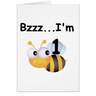 ぶんぶん言う音の《昆虫》マルハナバチの第1誕生日のTシャツおよびギフト カード