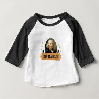 ぶんぶん言う音茶色のベン ベビーTシャツ