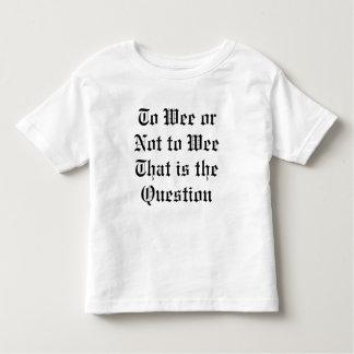 へのほんの少しまたはないちっぽけな子供のTシャツ トドラーTシャツ