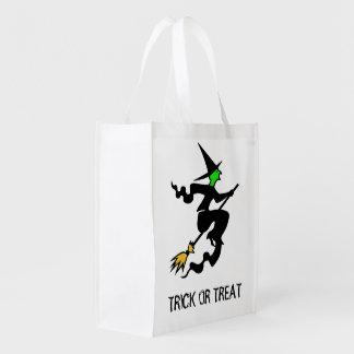 ほうきのハロウィンのトリック・オア・トリートのバッグのWhitch エコバッグ