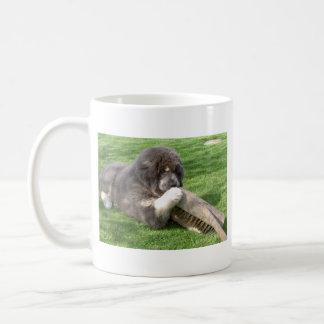 ほうきを持つチベタン・マスティフJampo コーヒーマグカップ
