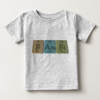 ほう素のアメリシウムのビスマスとしてBambi ベビーTシャツ