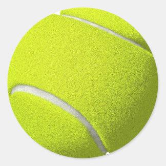 ほしければテニス・ボールのステッカー(文字を加えて下さい) ラウンドシール