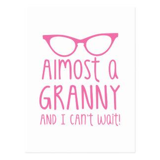 ほとんどおばあさんおよび私は待つことができません! ポストカード