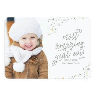 ほとんどのすばらしい年の新年の写真カード 12.7 X 17.8 インビテーションカード