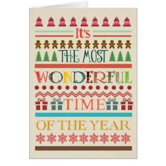 ほとんどのすばらしい時間のクリスマスの挨拶状 カード