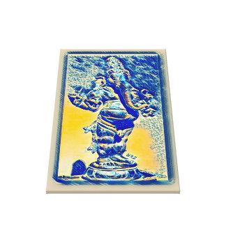 ほとんどの人気があるな古代Ganeshaスクロール水彩画の芸術 キャンバスプリント