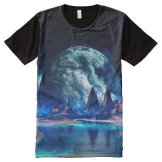 ほとんどの人気があるな外国の月のファンタジーの芸術 オールオーバープリントT シャツ