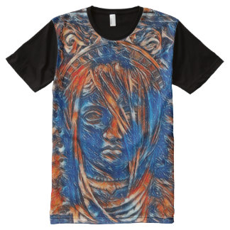 ほとんどの人気があるな女神の精神のアクリルペンキ オールオーバープリントT シャツ