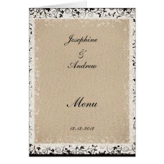 ほとんどの人気があるな結婚式メニュー カード