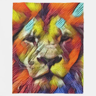 ほとんどの人気があるな虹のライオン フリースブランケット