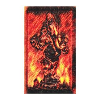 ほとんどの人気があるなGaneshaの火の精神のアクリルペンキ キャンバスプリント
