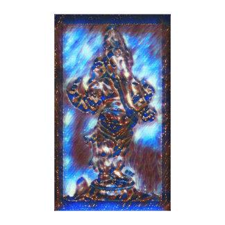 ほとんどの人気があるなGaneshaの神の精神のアクリルペンキ キャンバスプリント