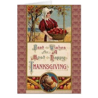 ほとんどの幸せな感謝祭の挨拶状 カード