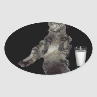 ほとんどの興味深い猫#3.jpg 楕円形シール