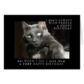 ほとんどの興味深い誕生日の願い カード