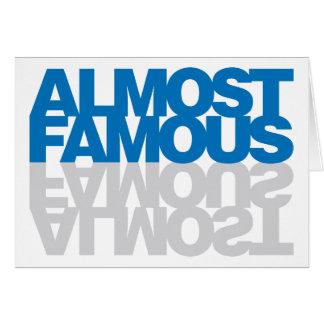 ほとんど有名-青 カード