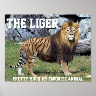 ほとんどLIGER私のお気に入りのな動物ポスター ポスター