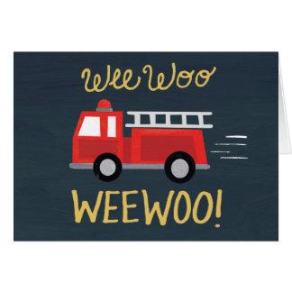 ほんの少しは懇願します! 普通消防車のバースデー・カード グリーティングカード