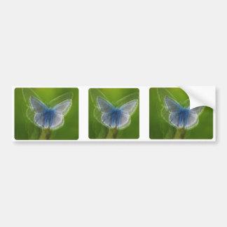 ぼやけられるアドニスの青い蝶 バンパーステッカー