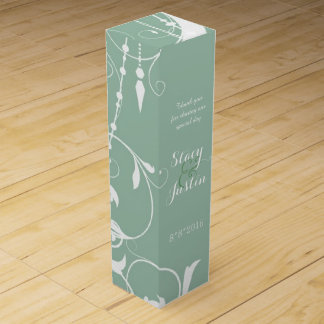 ぼろぼろのシックなシャンデリアの緑 ワイン 化粧箱