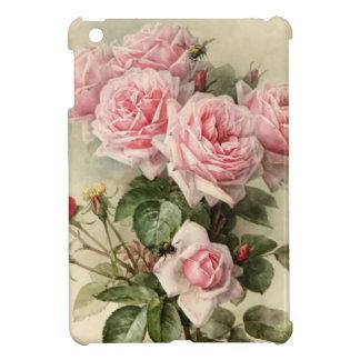 ぼろぼろのシックなピンクのビクトリアンなバラ iPad MINI カバー