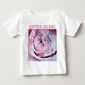 ぼろぼろのシックなヴィンテージのロマンチックでエレガントなピンクのバラ ベビーTシャツ