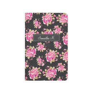 ぼろぼろのシックな花のバラ ポケットジャーナル