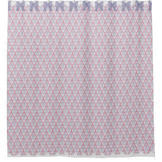 ぼろぼろのシックな薄紫及びばら色のダマスク織wは及びレース曲がります シャワーカーテン