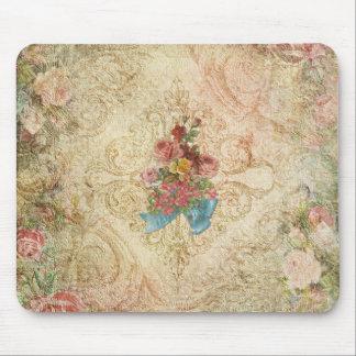 ぼろぼろのヴィンテージの花柄のマウスパッド マウスパッド