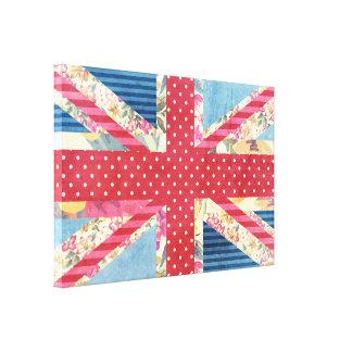 ぼろぼろの上品|のイギリスの旗のキルト キャンバスプリント
