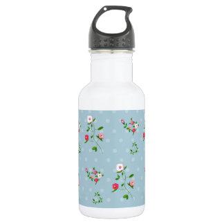ぼろぼろの上品、花の装飾 ウォーターボトル