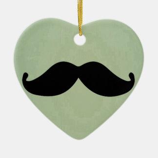 ぼろぼろの真新しい緑のヴィンテージのレトロの黒い髭 セラミックオーナメント