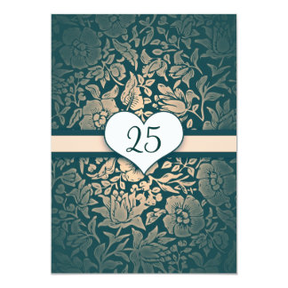 ぼろぼろの結婚記念日のヴィンテージ カード