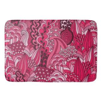 ぼろぼろの花のピンク バスマット