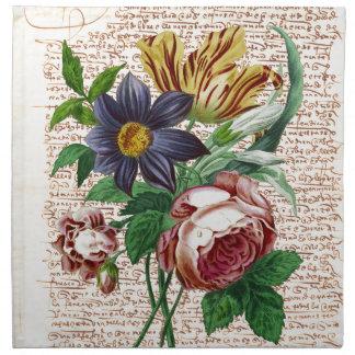 ぼろぼろの花 ナプキンクロス