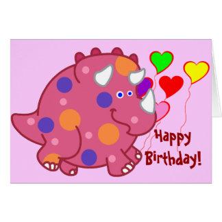 ぽっちゃりしたトリケラトプスの漫画の恐竜 カード