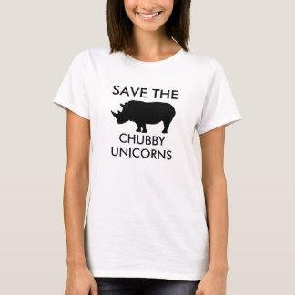 ぽっちゃりしたユニコーンを救って下さい Tシャツ
