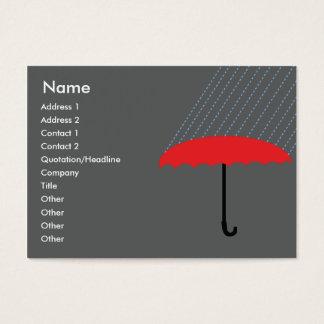 ぽっちゃりした傘- 名刺