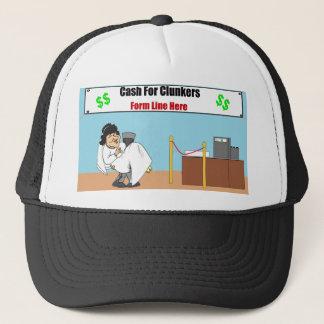 ぽんこつ夫および妻の帽子のために現金に換えて下さい キャップ
