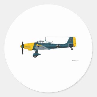 ぽんこつ自動車JU-87 Stuka ラウンドシール