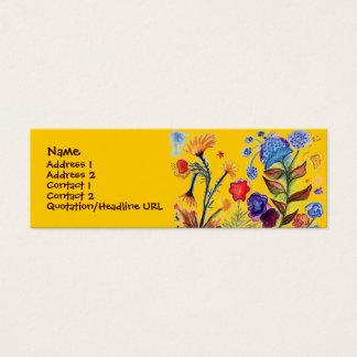 ぽんと鳴る青い花のプロフィールカード スキニー名刺
