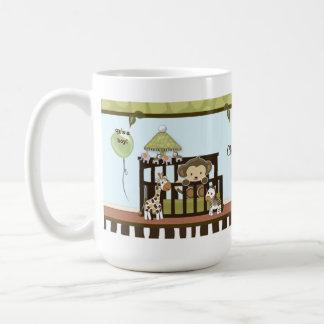 まぐさ桶のジャングルサファリのカリフォルニア青いマグのベビーをまねて下さい コーヒーマグカップ