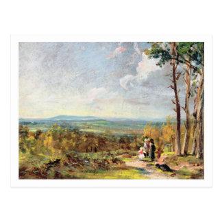 まぐわ1821年の方に見るHampsteadのヒース(油 ポストカード