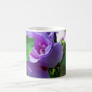 またはハイビスカスSyriacus紫色のムクゲ コーヒーマグカップ