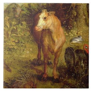 または地上の楽園、牛の詳細、po埋めて下さい タイル