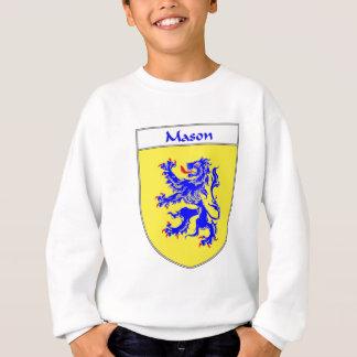 または家紋石大工の紋章付き外衣 スウェットシャツ