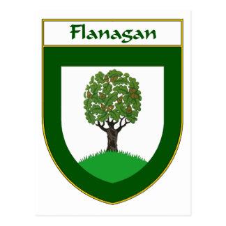 または家紋Flanaganの紋章付き外衣 ポストカード