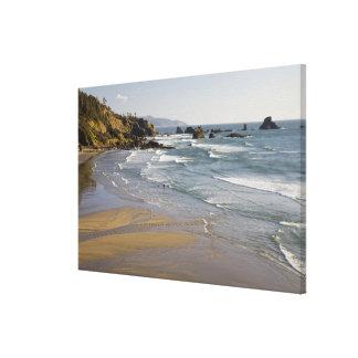 または、オレゴンの海岸、Ecolaの州立公園、インディアン キャンバスプリント